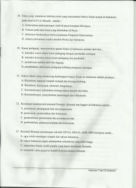 Soal Olimpiade Sains Nasional Tingkat Kabupaten 2012